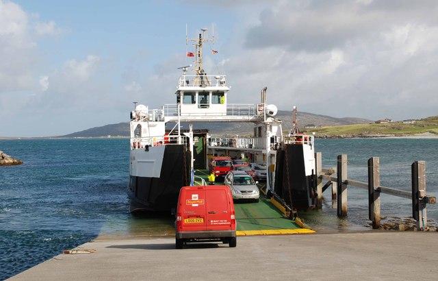 Mail awaiting the Barra ferry