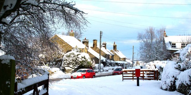 Wintry weather in Hedley on the Hill