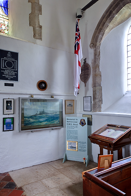 HMS Hood memorial - St John's church, Boldre