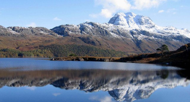 Siloch reflected in Loch Marie