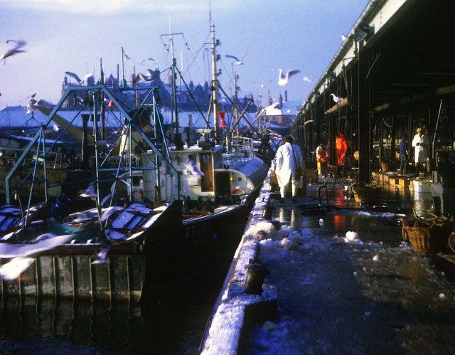 Aberdeen fishmarket on a winter's morning