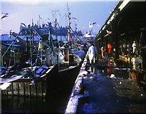 NJ9405 : Aberdeen fishmarket on a winter's morning by Robert W Watt