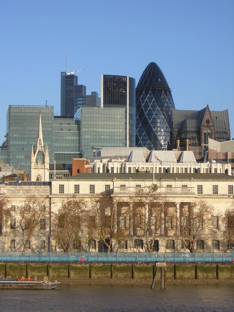 Looking across the Thames to the City, from Hay's Galleria