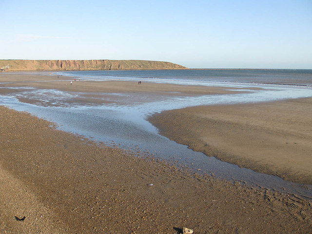 Filey beach in November