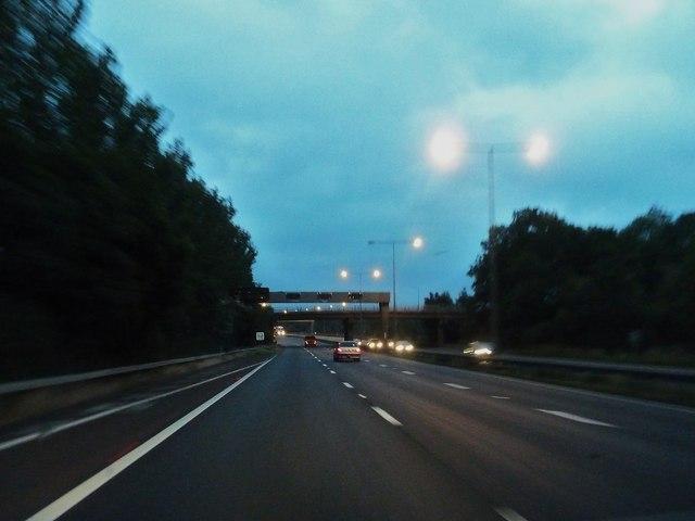 Dawn on the M6 northbound