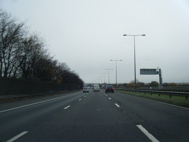 M6 northbound at Orrell
