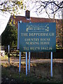 TM2176 : The Depperhaugh Country House Nursing Home sign by Adrian Cable