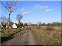 TM2176 : Entering Wingfield on Syleham Road by Adrian Cable