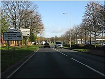 SO9568 : A38 approaching Bromsgrove Technology Park by Peter Whatley