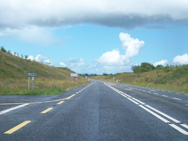 The junction with the L5339 on the Charlestown Bypass