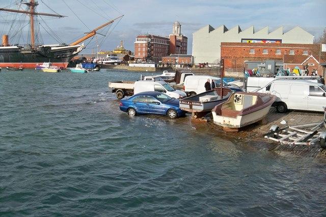 High Tide at Portsmouth Hard