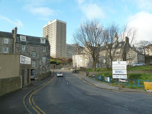 Looking up Castle Terrace, Aberdeen