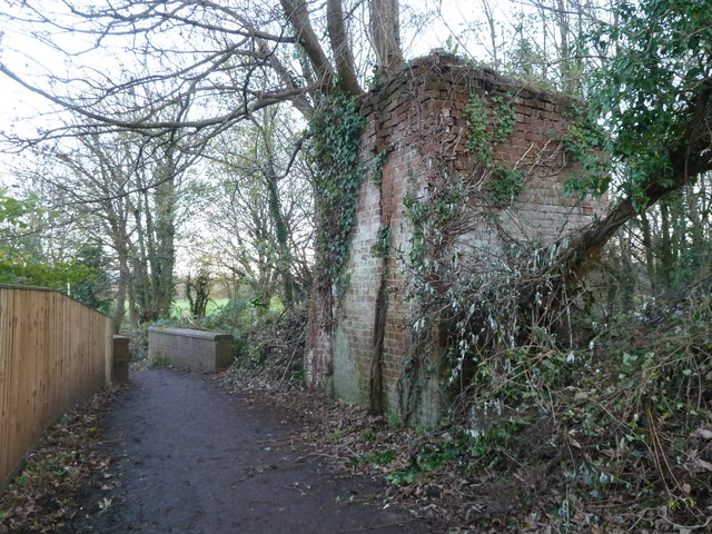 Remains of Middle Mill, Cullompton