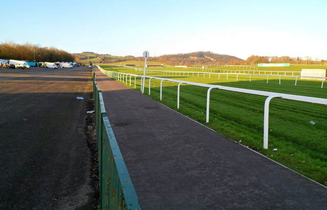 The one furlong post, Chepstow Racecourse