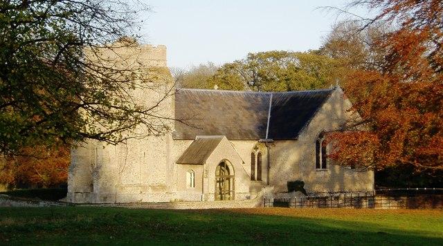 St Nicholas Church, Landwade (autumn)