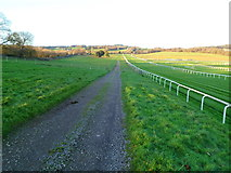 ST5295 : Track alongside the racetrack, Chepstow Racecourse by Jaggery