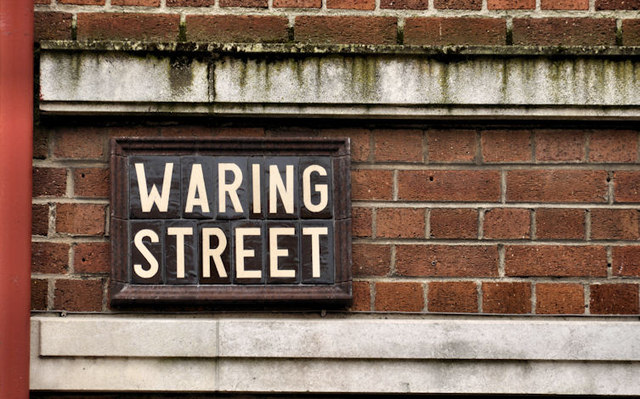 Waring Street sign, Belfast