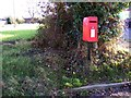 TM2177 : Village Hall Postbox by Adrian Cable