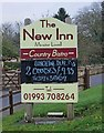 SP3010 : The New Inn (2) - sign, Burford Road, Minster Lovell by P L Chadwick