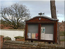 SK6117 : Parish Council notice board by Alan Murray-Rust