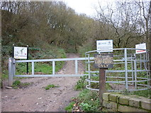 SE2433 : The entrance to Post Hill by Ian S