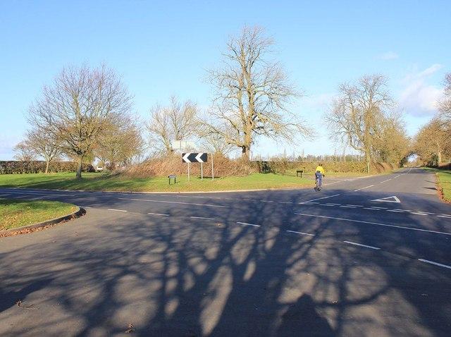 Bush Heath Lane five ways junction
