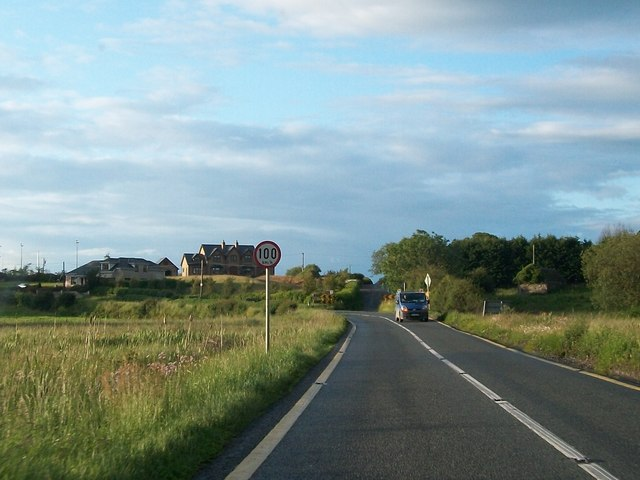 The N55 at the junction with the Glascarrick Road