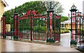 SD3228 : Ashton Gardens -  St. George's Road entrance gates, St. Annes-on-Sea by P L Chadwick