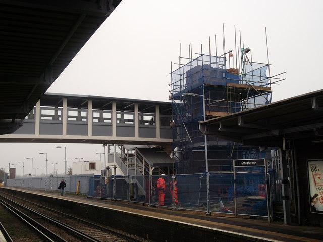 Construction work on Platform 1,    © David Anstiss cc-by-sa/2 0