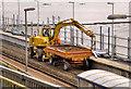 J4288 : Rail/road crane, Downshire, Carrickfergus by Albert Bridge