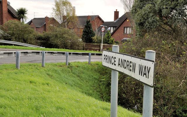 Prince Andrew Way sign, Carrickfergus