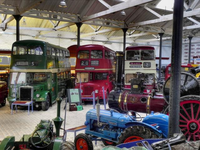 Inside Bury Transport Museum