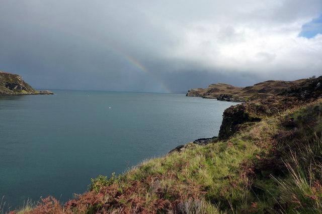 Rainbow over Loch Diubaig