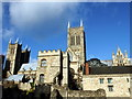 SK9771 : Lincoln Medieval Bishops' Palace and Cathedral by PAUL FARMER