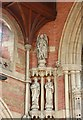 TQ4671 : St John the Evangelist, Church Road, Sidcup - Statues by John Salmon