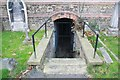 TQ4671 : St John the Evangelist, Church Road, Sidcup - Entrance to crypt by John Salmon