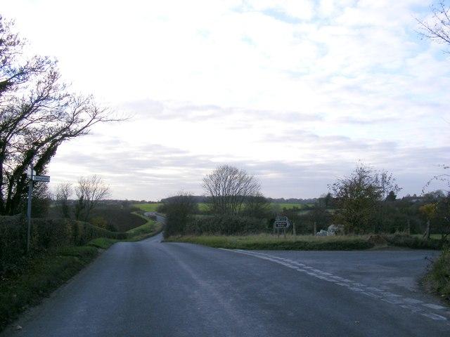 Road junction on Top Road