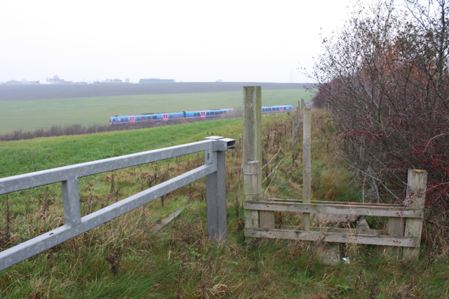 Footpath to Level Crossing at Morley