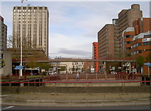 ST5973 : Old Market roundabout by Neil Owen