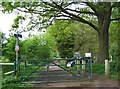 SO8073 : Gates at Burlish Top Nature Reserve, Stourport-on-Severn by P L Chadwick