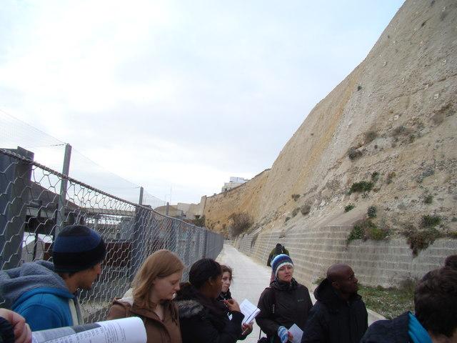 Looking back along the walkway towards Asda