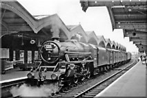 TL4197 : March station, with a Stanier 'Black 5' - unusual in 1958 - on eastbound parcels train by Ben Brooksbank