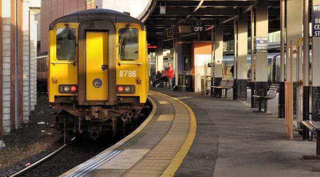 Larne line train, Belfast Central
