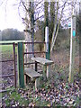 TM2380 : Stile of the footpath to Angles Way by Geographer