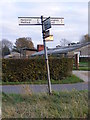 TM2480 : Roadsign on One Eyed Lane by Geographer