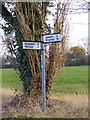 TM2480 : Roadsign at One Eyed Lane junction by Adrian Cable