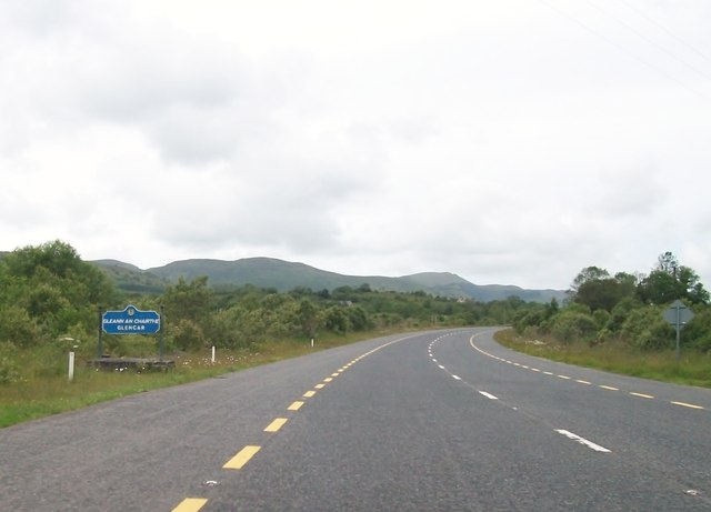 Entering the Townland of Glencar on the N16