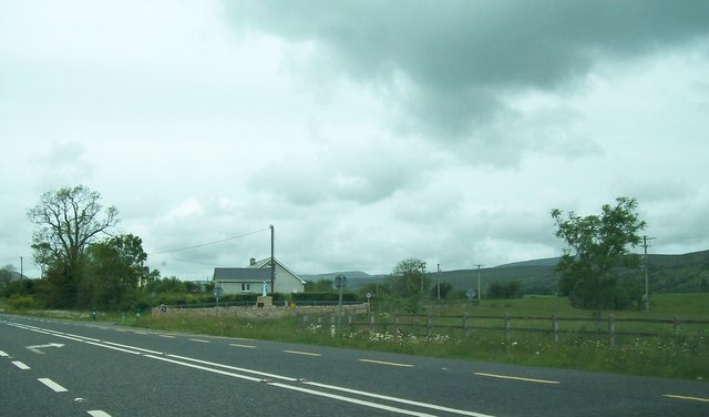 The N16 at the turn-off for Dromore