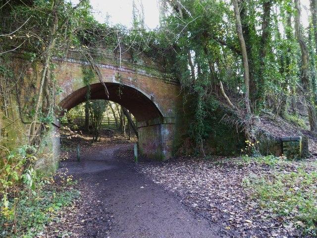 Path under disused railway bridge