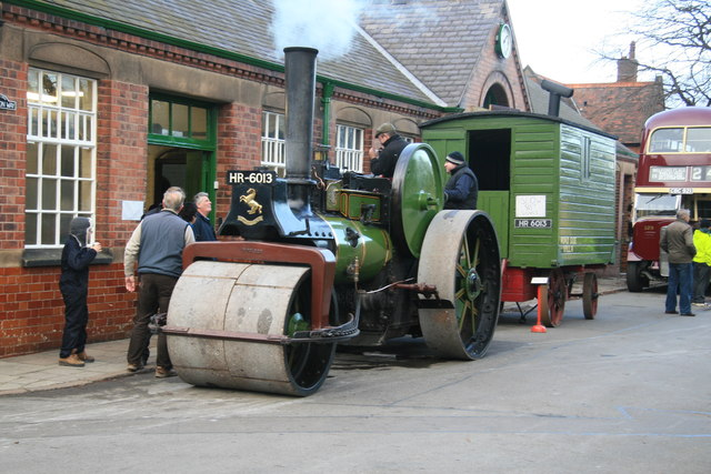Abbey Pumping Station - roller and living van.